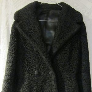 Vintage black Persian Lamb Fur Coat lovely